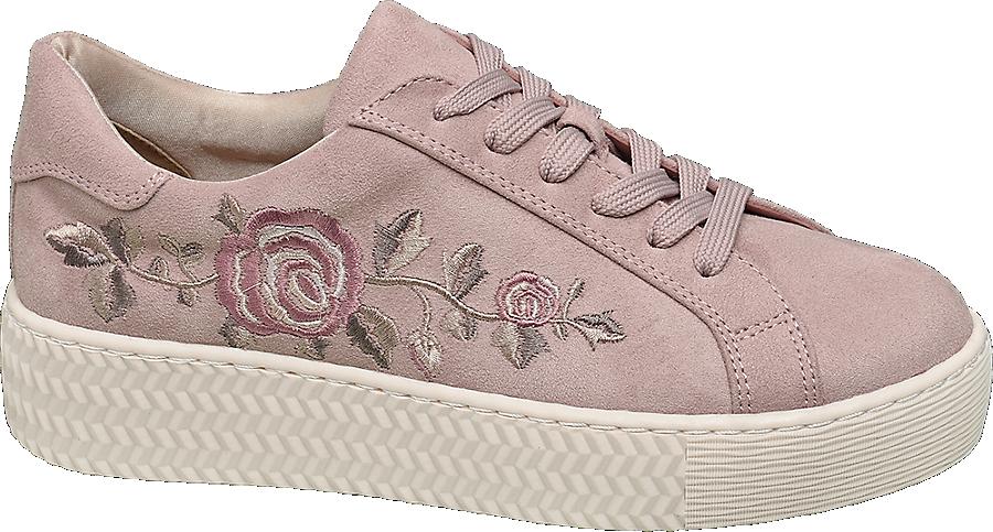 Sneaker Donna A Alta Da Fiori Suola Con ulFK1JcT3