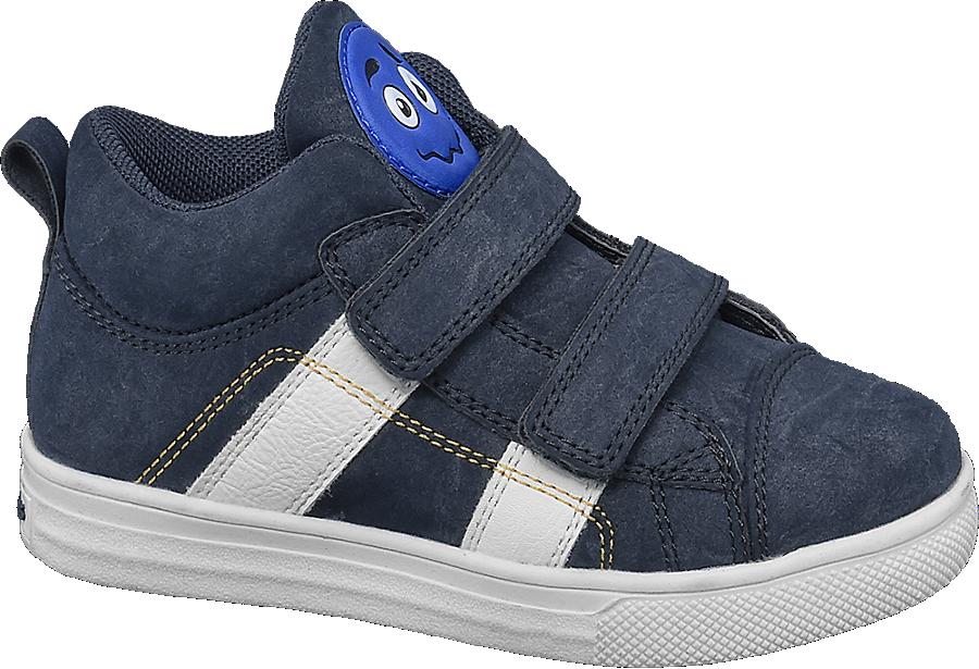 Con Da Blu Sneaker Chiusura Alta A Velcro Bambino nvN8m0wyO