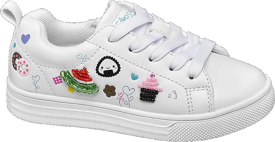 Sneaker Decorazioni Con Bambina Da Bianca 67vfYybg
