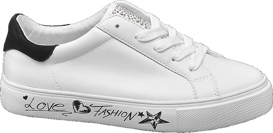 Donna Con Bianco Sneaker Strass Da mwONnv80