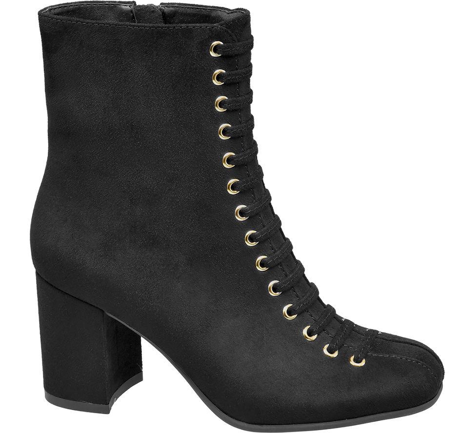 Les Bottines Des Femmes De Velours Noir Graceland (taille 36, Noir)
