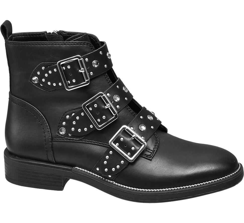 MesFemmes Strass Chaussure De Cycliste Noir Graceland (taille 40, Noir)