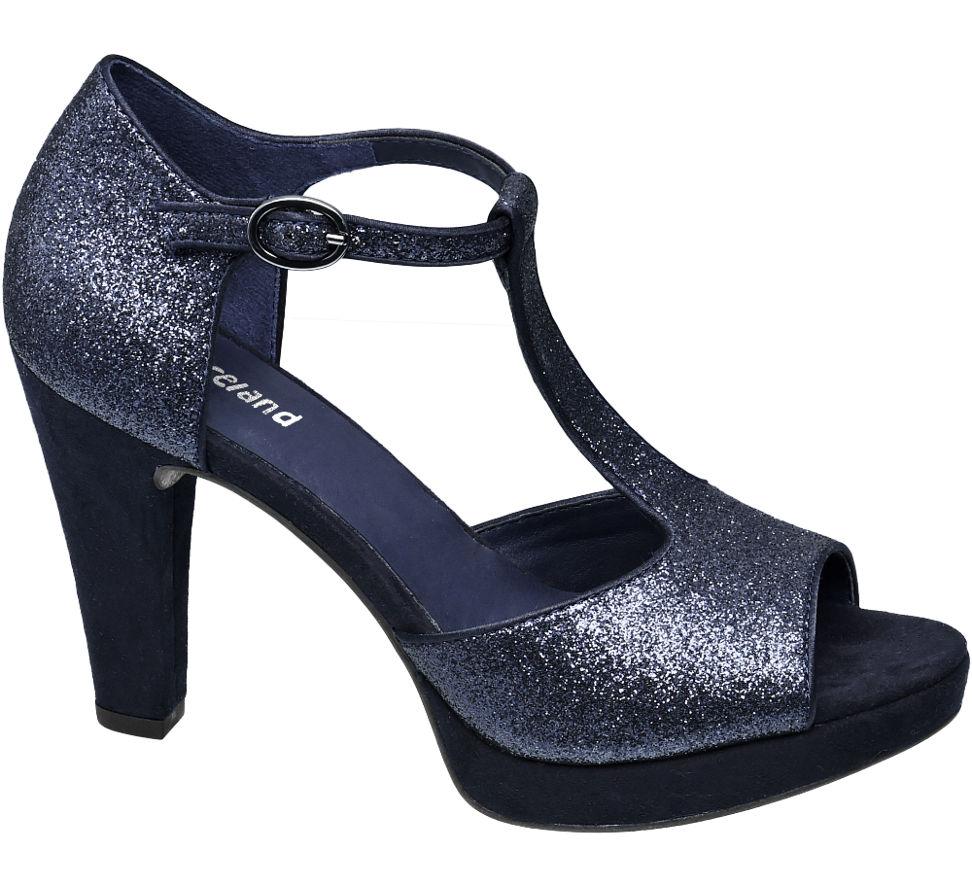 Chaussures Graceland Bleu Avec Peep-toe Avec Boucle Pour Femmes u2HBi