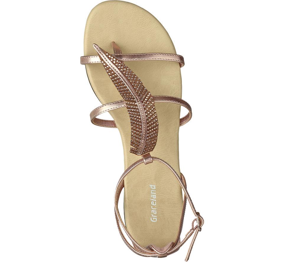 Graceland Femmes Sandale © Rosé Printemps Application (taille 41, Rosa © Or)