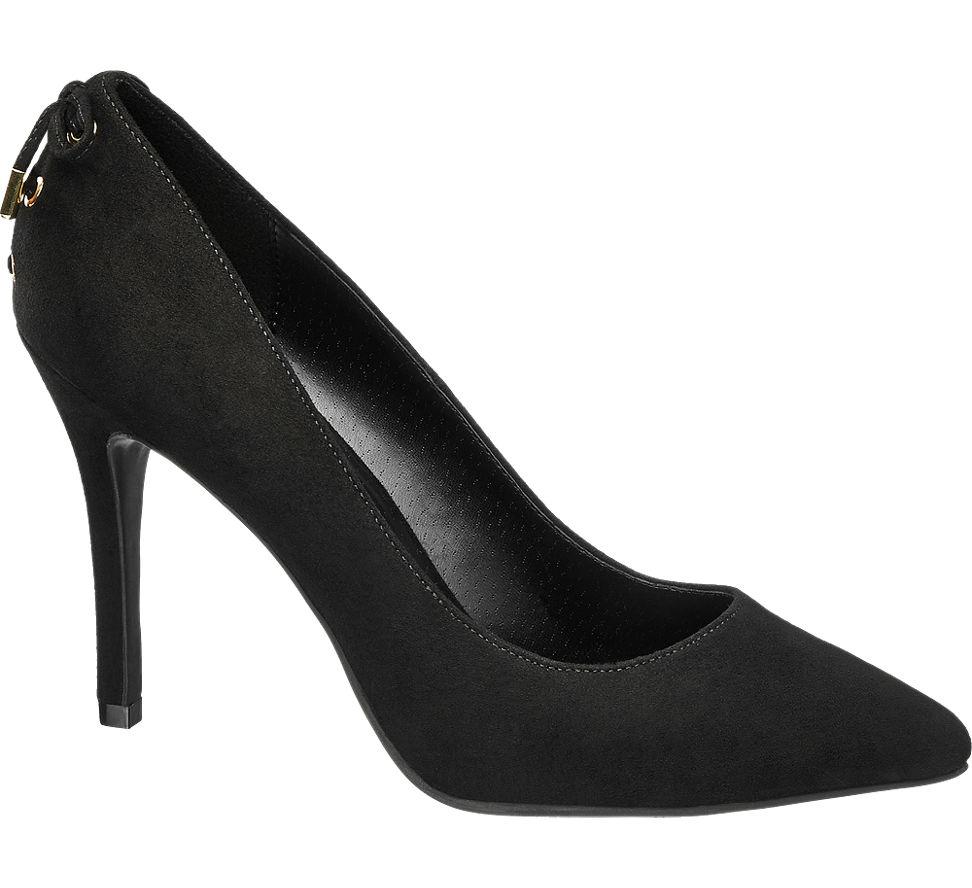MesFemmes Boucle De Pompe Noir Graceland (taille 40, Noir)