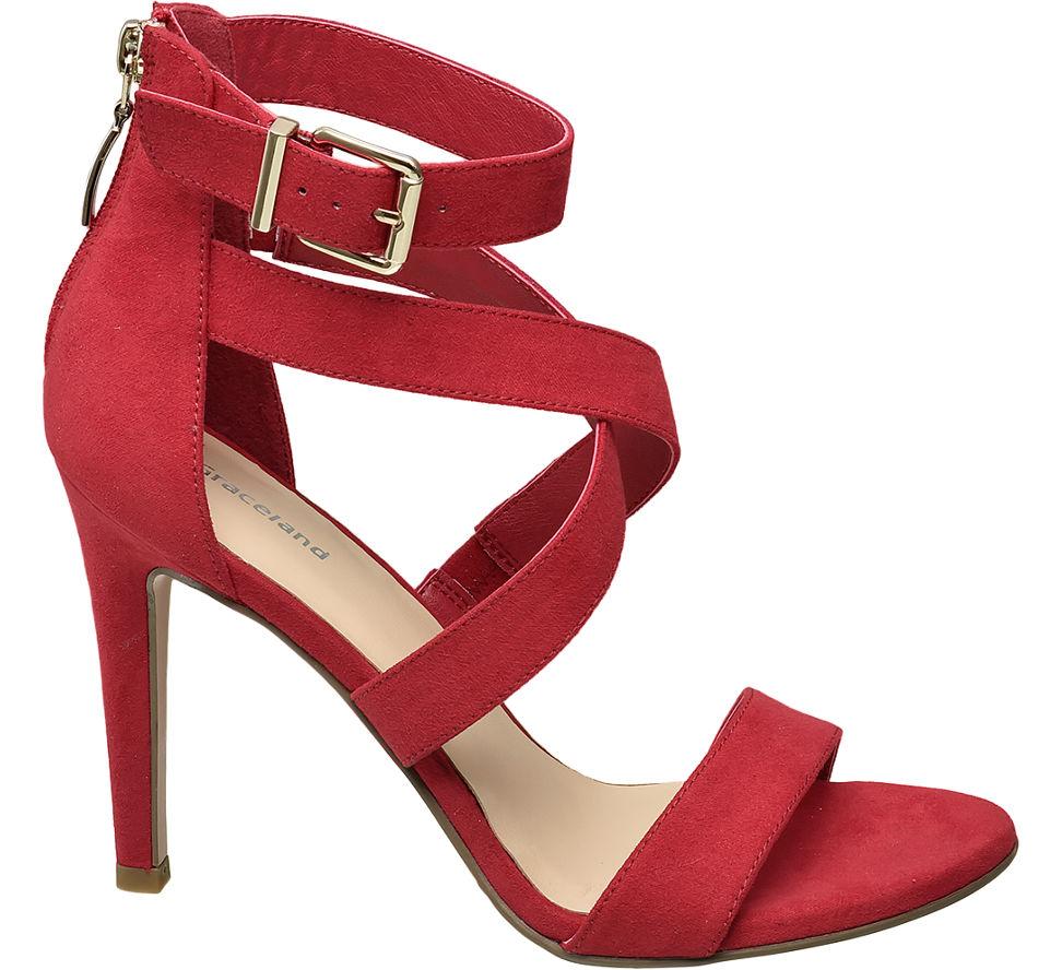 Chaussures Graceland Rouge Avec Fermeture Éclair Pour Les Femmes 3gT3Av