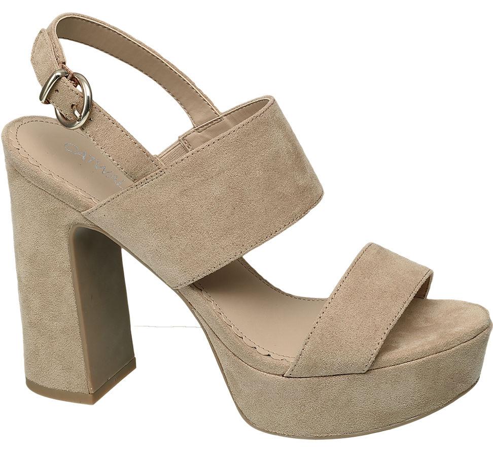 Catwalk 1240947 Bej Kadın Topuklu Ayakkabı