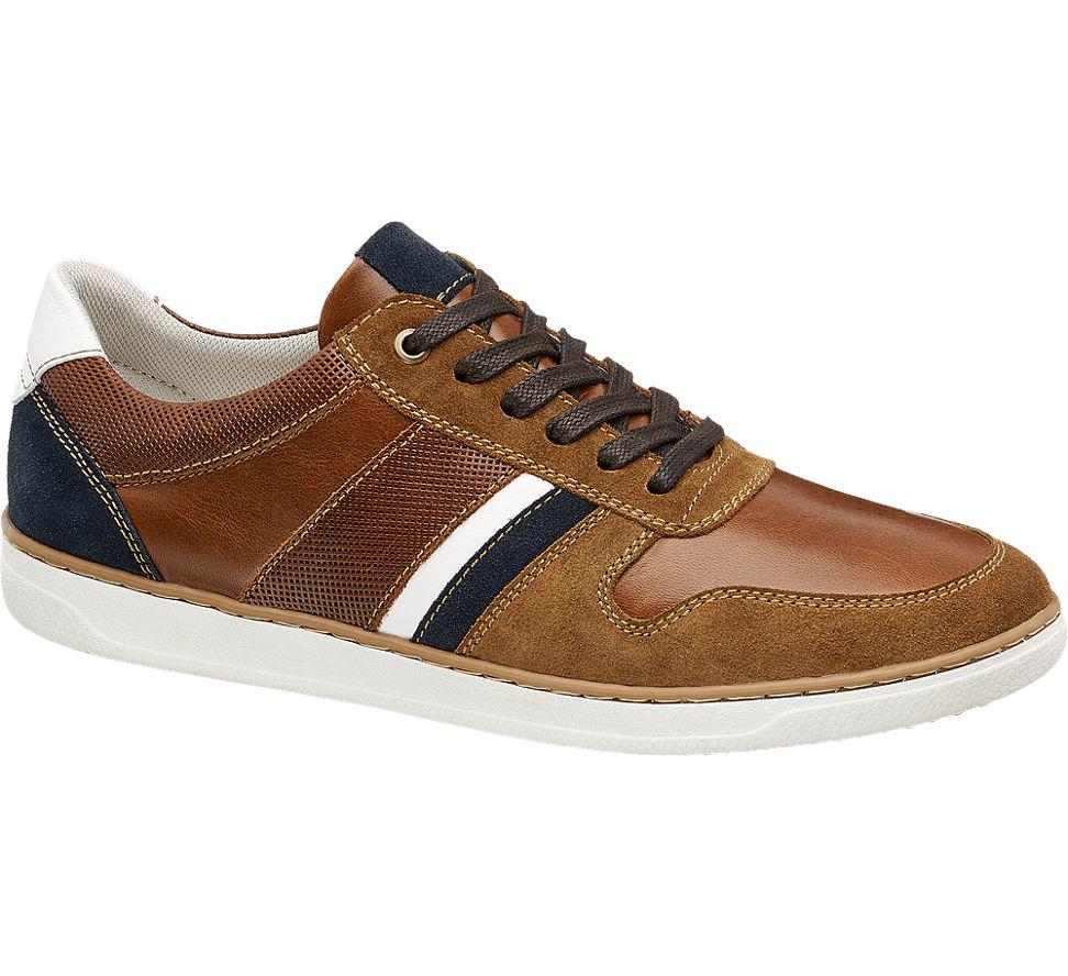 Chaussures Am Hommes Sneakers En Cuir Bleu Perforation (taille 41, Bleu)
