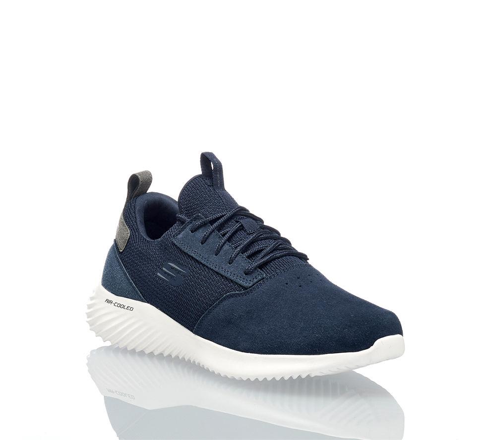 Skechers Bounder Herren Sneaker Blau