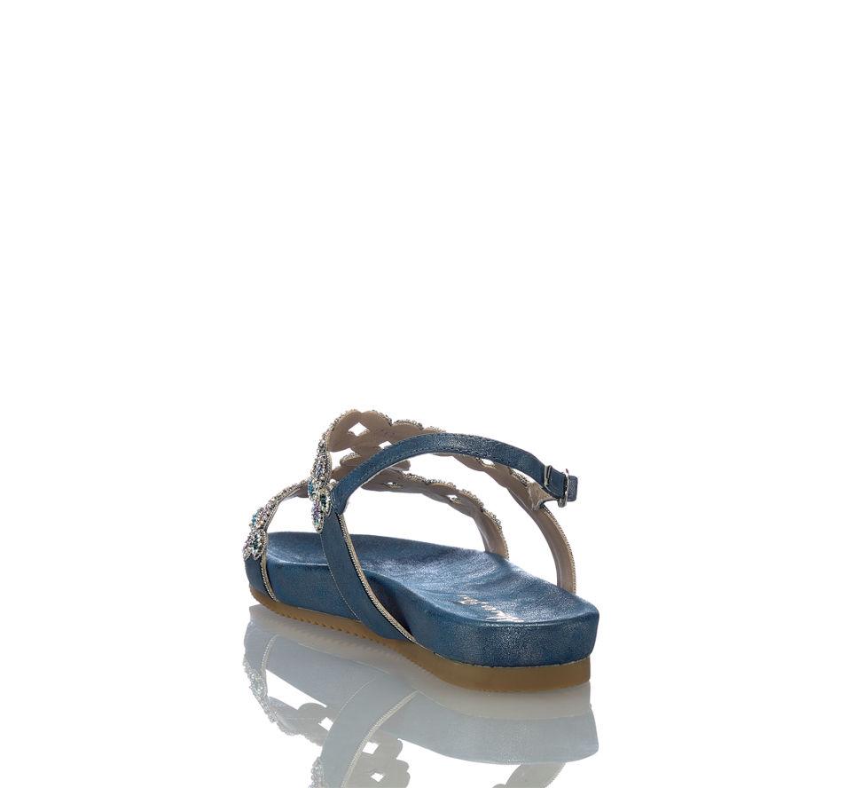 In Alma Im Blau Von Flache En Pena Kaufen Damen Sandalette Günstig fCR7qw