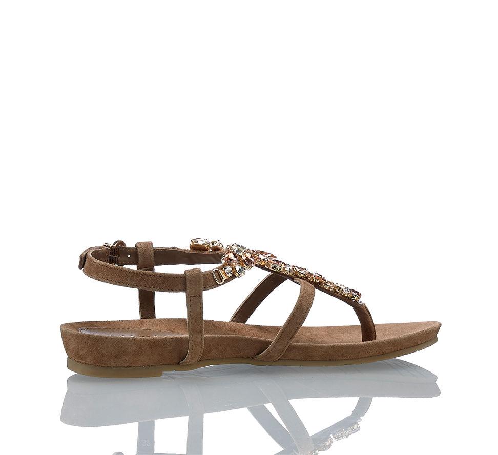 Günstig Damen Amani Kaufen Sandalette Im Flache In Lazamani Taupe Von Zd0Fwd