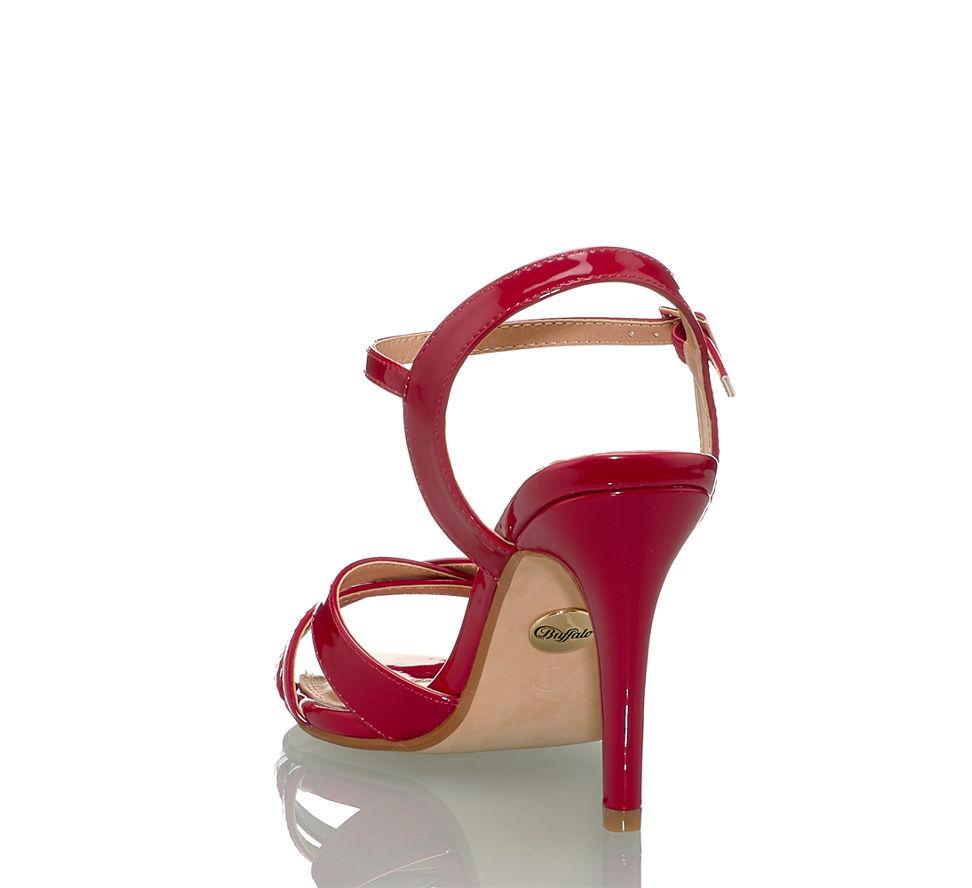 Kaufen Sandalette Hohe Online Shop Im Rot Buffalo Von In Damen PZA55qwz