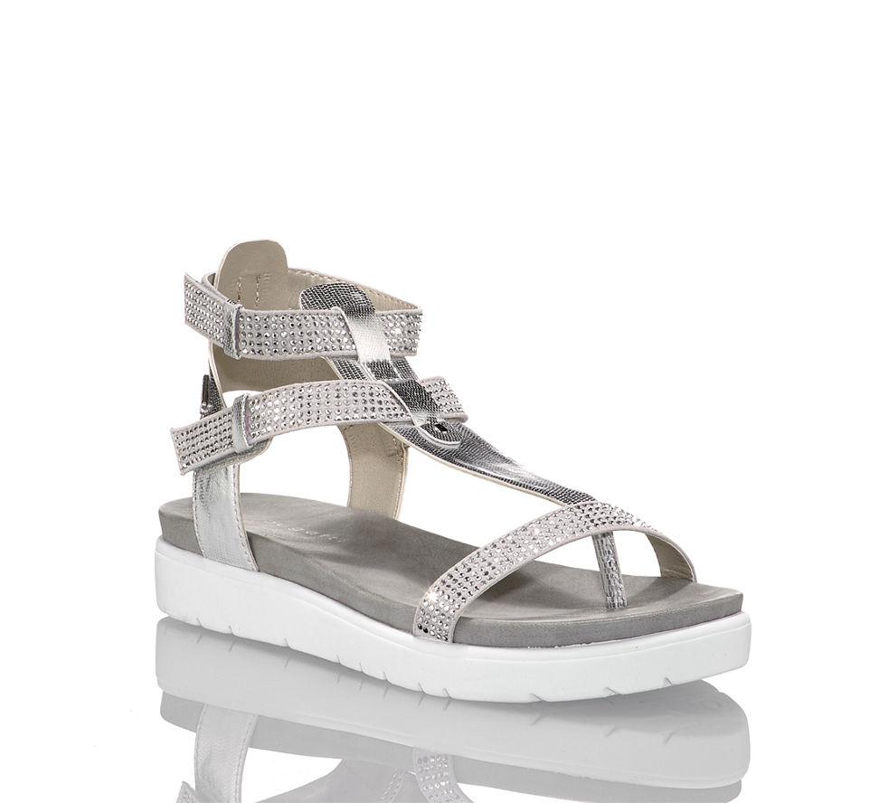 Sandalette Damen Bugatti Kaufen Flache In Günstig Von Im Grau xfSxwdq