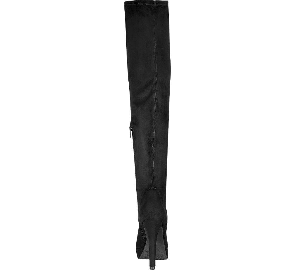 damen overknee stiefel in schwarz von catwalk g nstig im. Black Bedroom Furniture Sets. Home Design Ideas