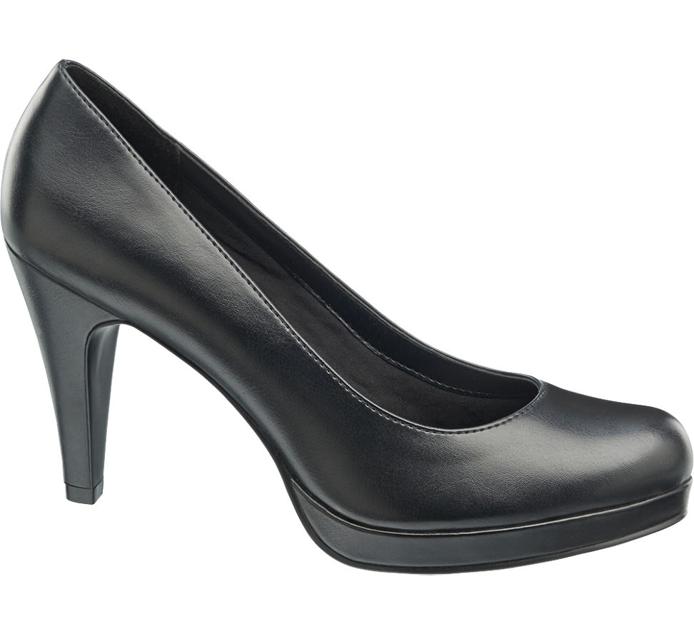 damen plateau pumps von graceland in schwarz. Black Bedroom Furniture Sets. Home Design Ideas