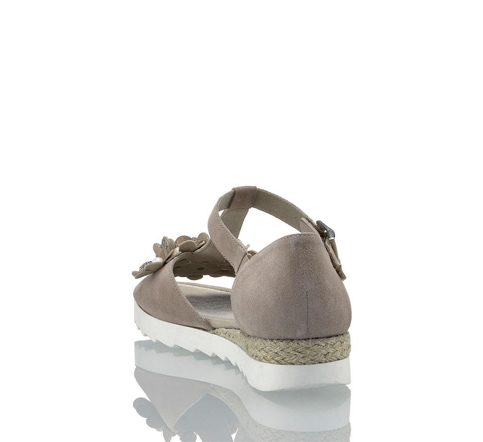 Gabor Beige Damen Rhodos Im G braun Flache Günstig Kaufen In Sandalette Von pRrpqw