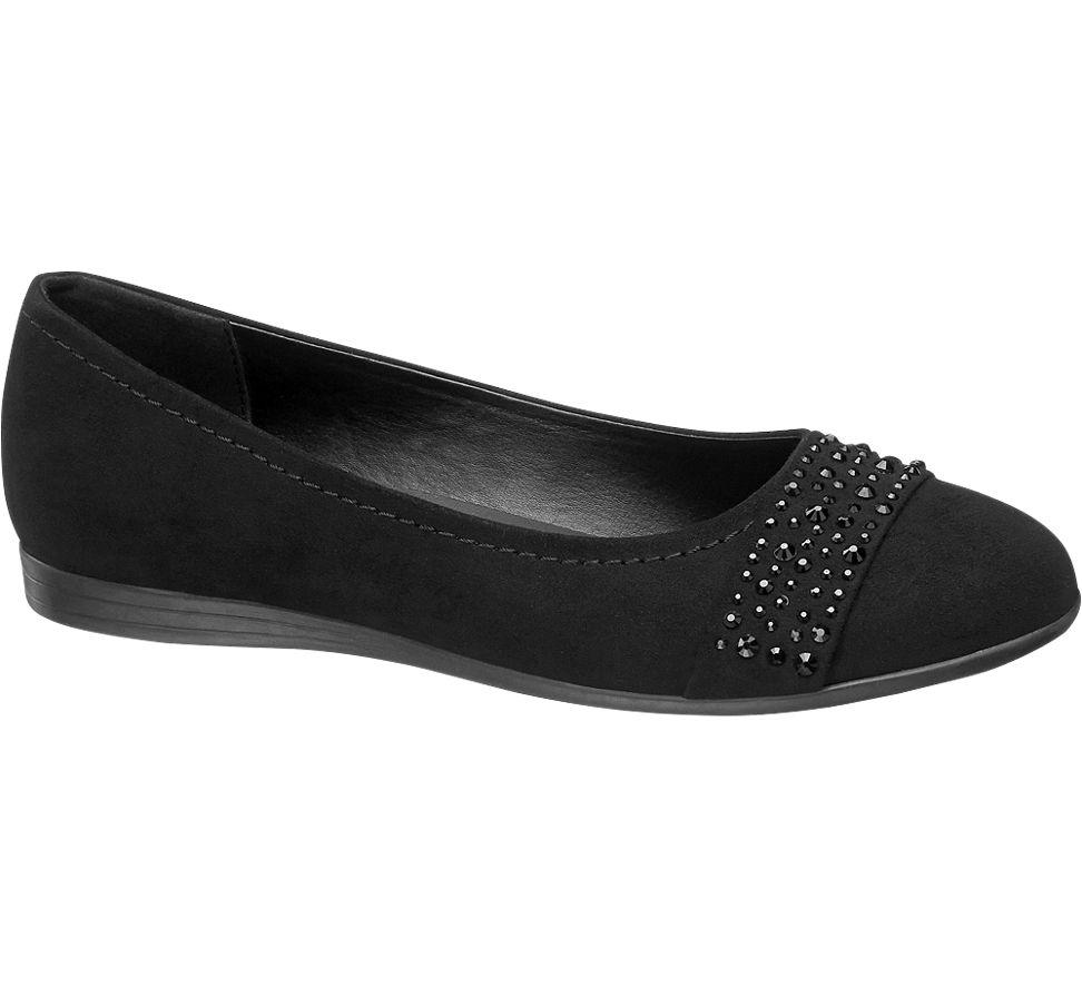 9a5a17388ed Graceland Ladies Ballerina Pumps Black | Deichmann