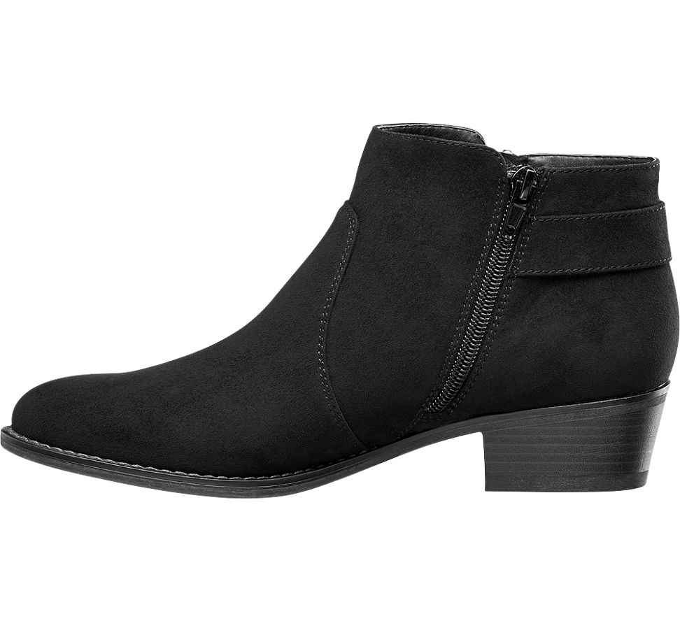 graceland black ankle boots deichmann
