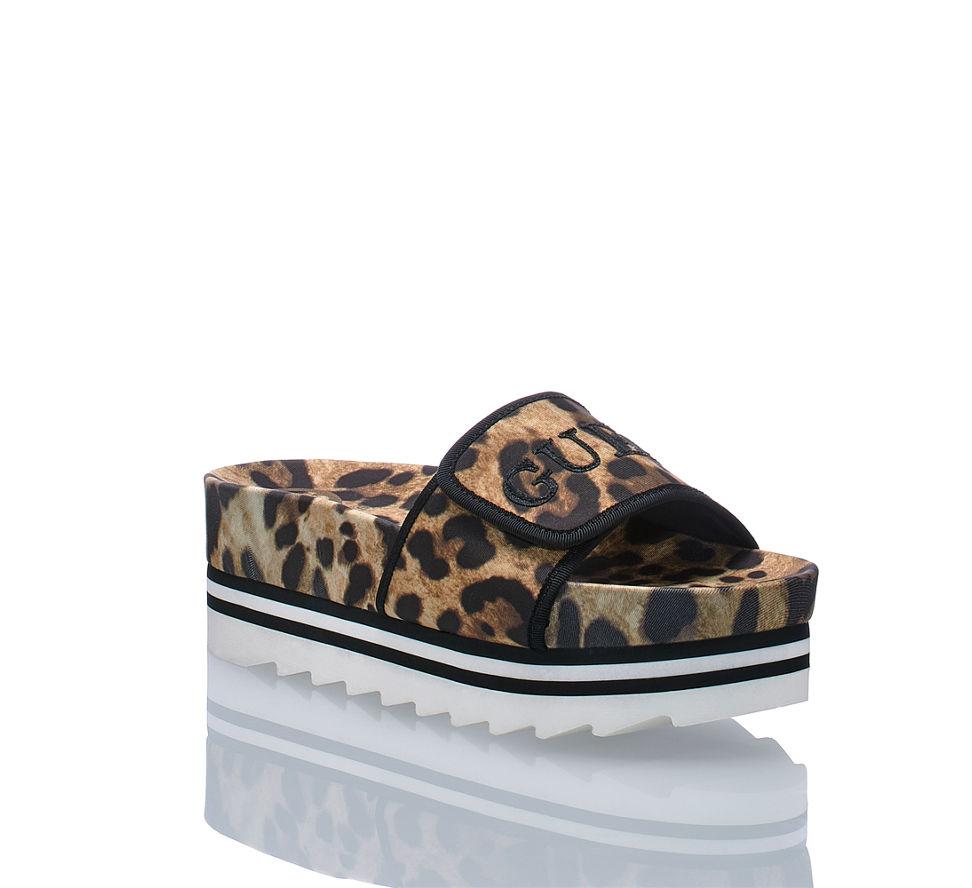 Günstig Leopard Im Pantolette Guess Kaufen Von In Damen Hallie 2 qna80O
