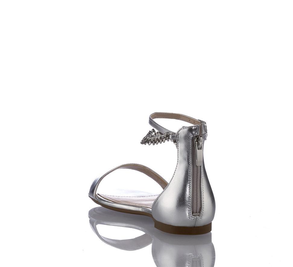 Kaufen In Guess 2 Ronalda Silber Im Sandalette Günstig Damen Flache Von w7aB6q