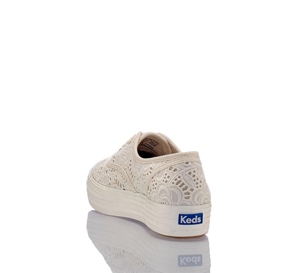 Creme Sneaker Emroidered Crochet Günstig Triple Keds Von Im Kaufen Damen In YqBnH1