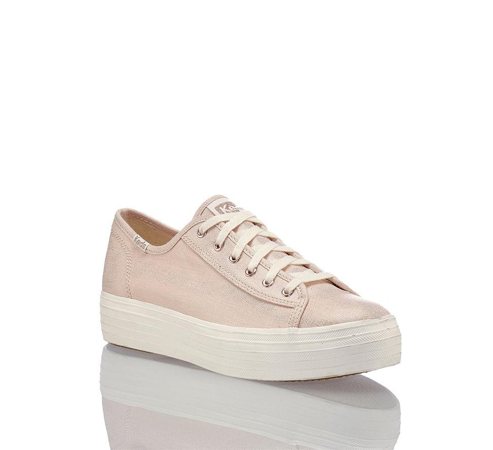 Damen Keds Triple Von Sneaker Kick Im Kaufen In Metallic Rosegold Linen Günstig rTC4xTw1qn