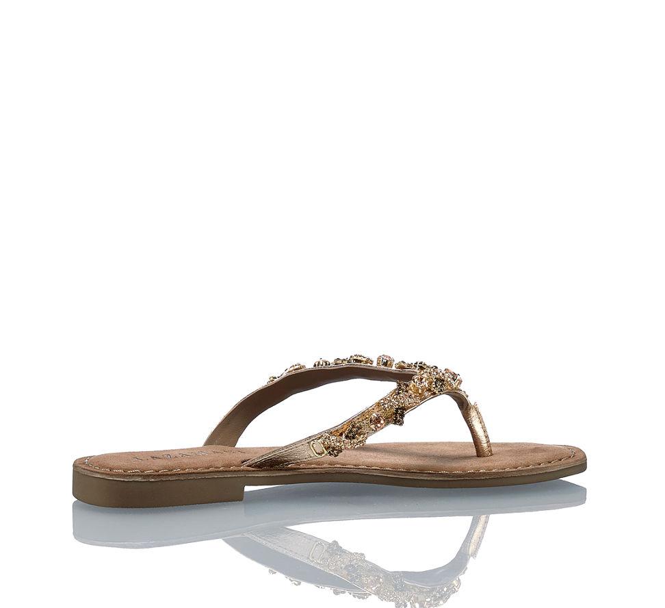 Kaufen Günstig Lazamani Im Von Sandalette In Kupfer Damen Flache wwRaqApP