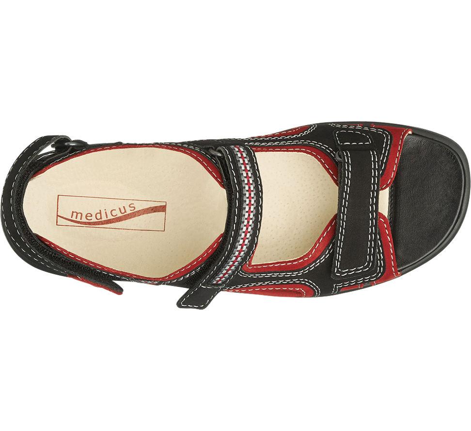 medicus trekking sandale damen in rot von medicus im online shop kaufen. Black Bedroom Furniture Sets. Home Design Ideas