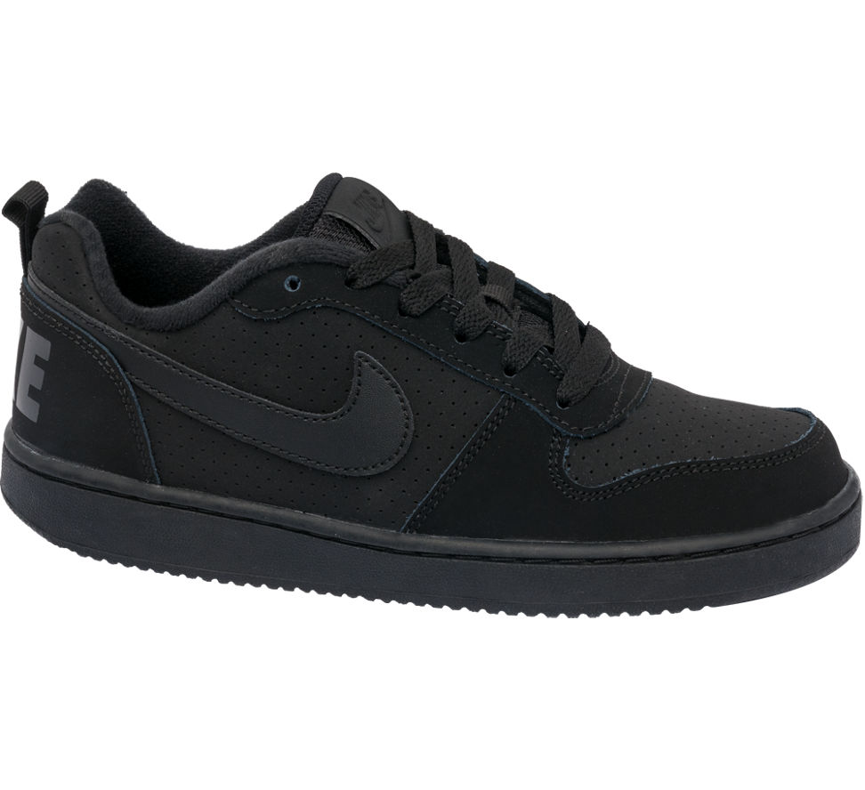 nike court borough low teen black trainers deichmann. Black Bedroom Furniture Sets. Home Design Ideas