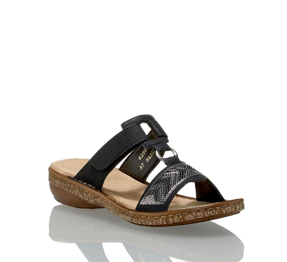 Kaufen Rieker Im Sandalette Damen Von Schwarz In Flache Günstig z8HZCq