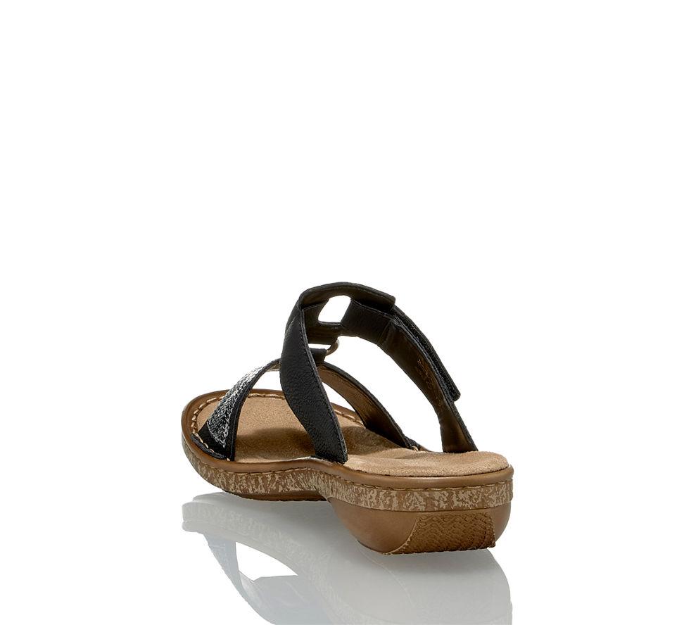 Rieker Im Kaufen Sandalette Damen Schwarz In Flache Von Günstig aafTqBxn