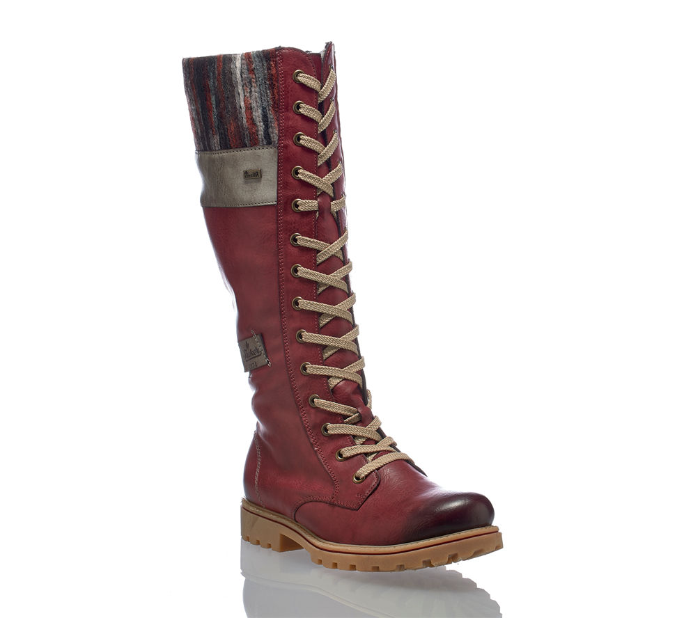 low priced 94328 b98cb Rieker Damen Stiefel Rot in rot von Rieker günstig im Online ...
