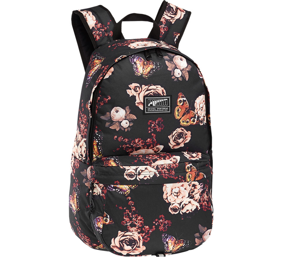Puma Academy Backpack, Black Flower