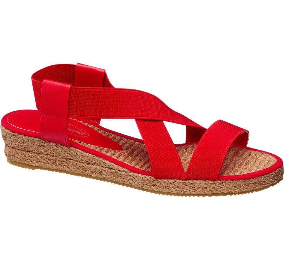 Sandále značky Graceland vo farbe červená - deichmann.com e9d38760a2