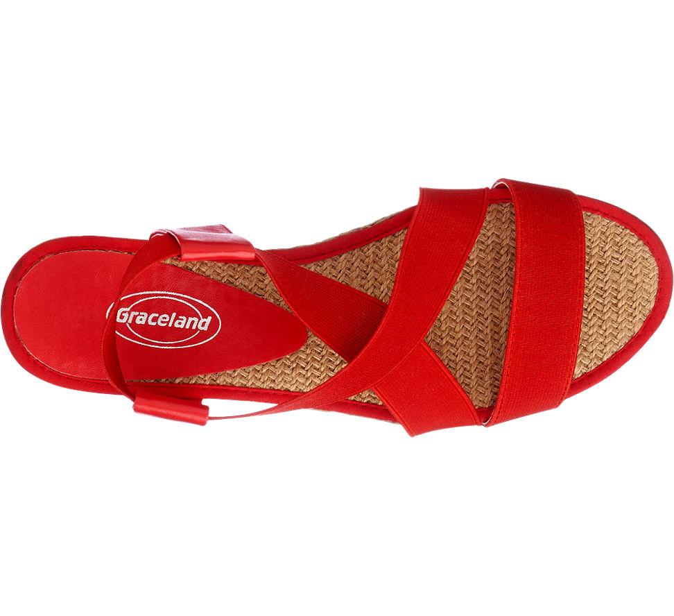 e5cefe438e Sandále značky Graceland vo farbe červená - deichmann.com