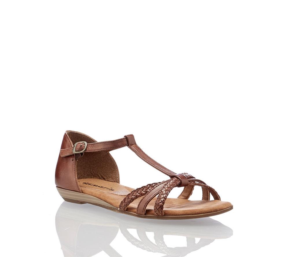 Stufen von Bestbewertet echt Beförderung Tamaris Verbena Damen Sandale in braun von Tamaris im Online ...