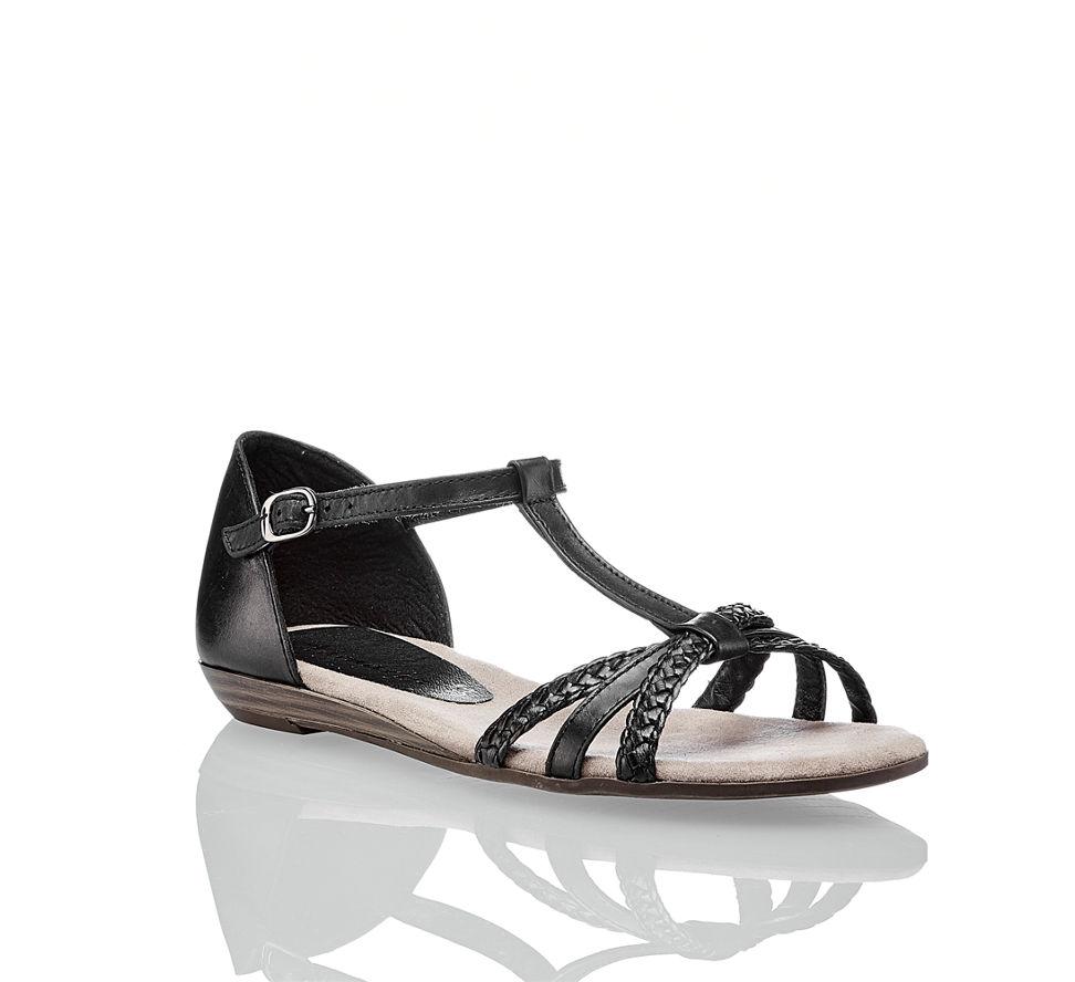 Online Sandalette Kaufen Flache Shop Schwarz In Tamaris Damen Im Von zHaqwq405
