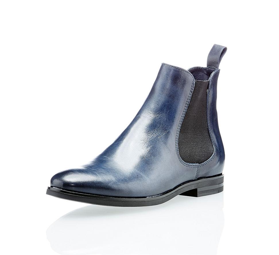 4de06c20d3257f Varese Damen Chelsea Boots Blau in blau von Varese im Online Shop kaufen