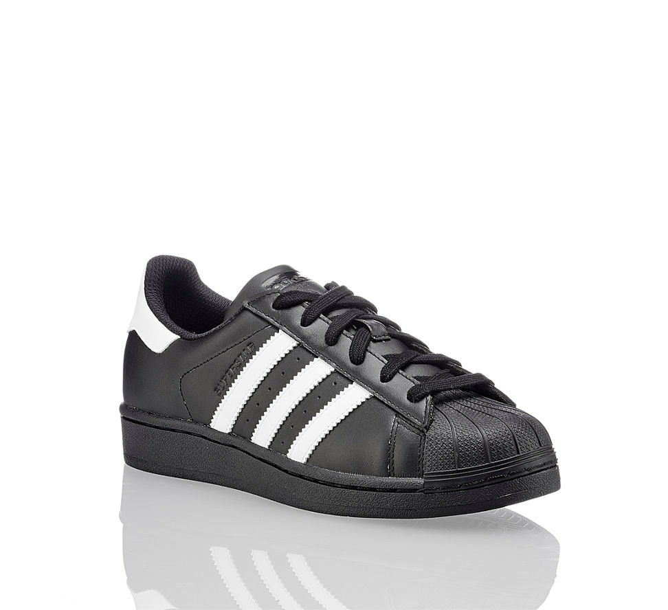 adidas superstar foundation damen sneaker in schwarz wei. Black Bedroom Furniture Sets. Home Design Ideas