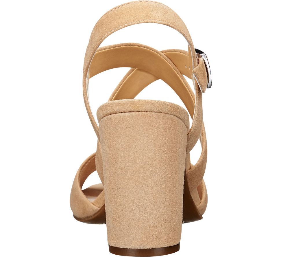 Leather. 5th Avenue Heeled Sandals