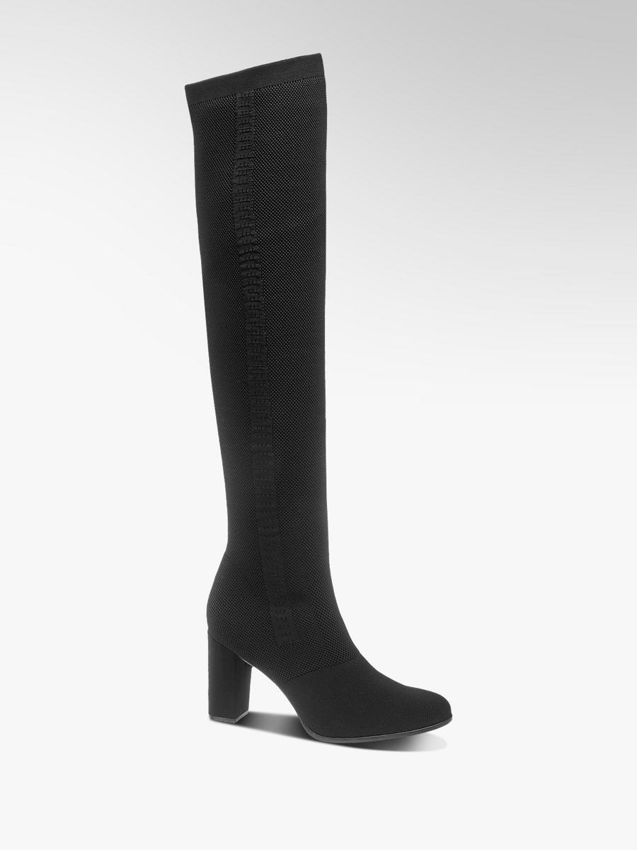 9af4b8f4c5f6d Damen Overknee Stiefel in schwarz von Catwalk günstig im Online-Shop ...