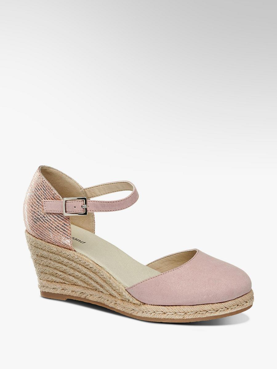 6efc475737c9d7 Różowe sandały na koturnie Graceland - 1169606 - deichmann.com