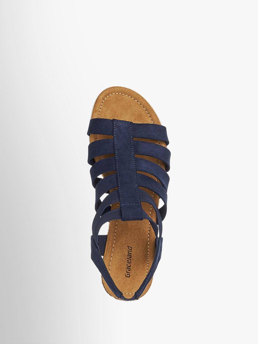 sandale von graceland in blau deichmann. Black Bedroom Furniture Sets. Home Design Ideas