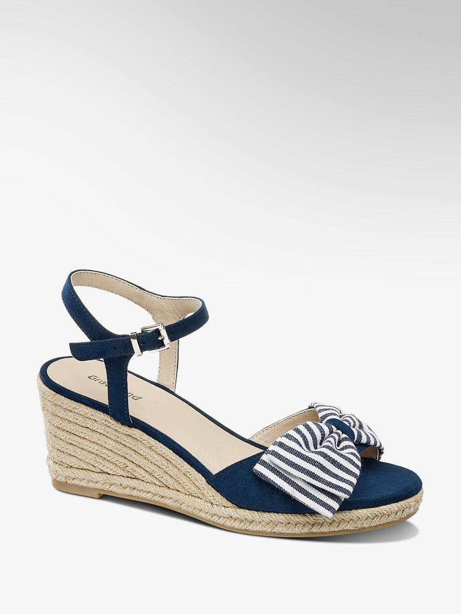 bbe2b7e962d0 Sandále na klinovom podpätku značky Graceland vo farbe modrá - deichmann.com