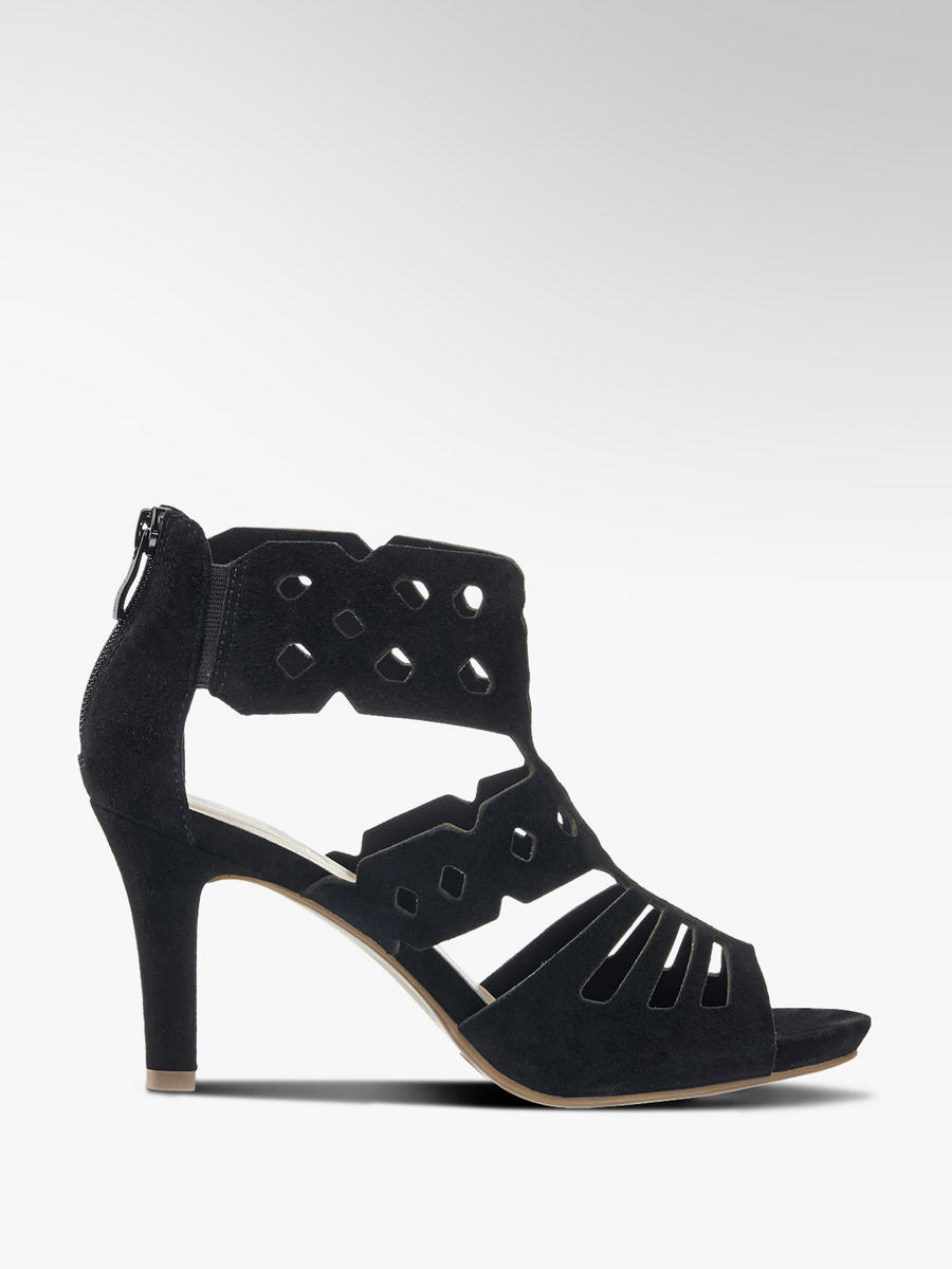 1c8949204707 Semišové sandály znacky 5th Avenue v barve černá - deichmann.com