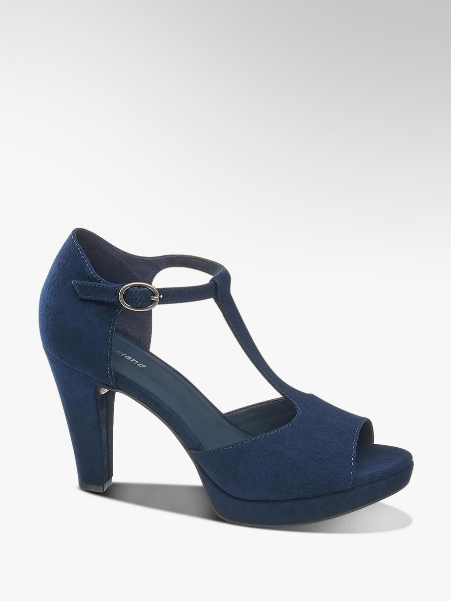 14292900e55da Znacky Graceland Na V Barve Sandály Modrá Společenské Podpatku Tmavě dBxCroe