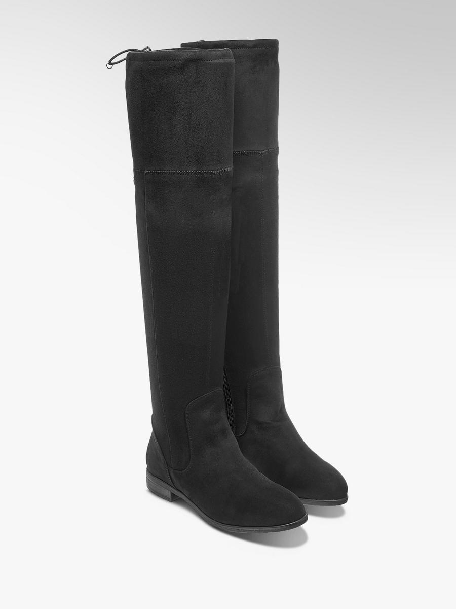 7e5d4eed58bb Čižmy nad kolená značky Tom Tailor vo farbe čierna - deichmann.com