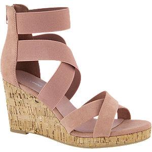Roze sandalette sleehak