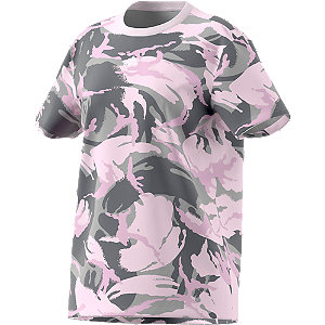 Roze W Camo Tee - dames