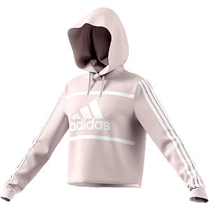 Roze CB Cropped Hoodie - dames